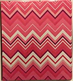 Divoga 1 inch 3 Ring School Fashion Binder, Large Pink Chevrons
