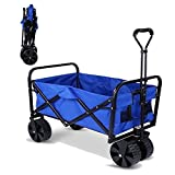 Outdoor Utility Wagon Heavy Duty Folding Collapsible Beach Wagon Cart Sports Perfect for Outdoor Beach Sport [ US STOCK ]