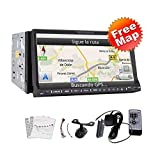 "High Def 7 Inch In Dash 2 Din Car Stereo DVD Player GPS Navigation 3D Bluetooth Double 2 Din 7"" HD GPS Navi Radio TV BT RDS Ipod Car Stereo DVD CD Player+CAMERA"