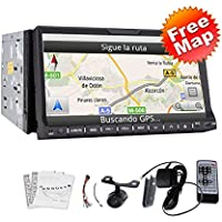 High Def 7 Inch In Dash 2 Din Car Stereo DVD Player GPS Navigation 3D Bluetooth Double 2 Din 7 HD GPS Navi Radio TV BT RDS Ipod Car Stereo DVD CD Player+CAMERA