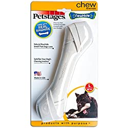 Petstages Newhide Safe Alternative for Rawhide Dog Chew, Durable Safe Dog Toy, Large