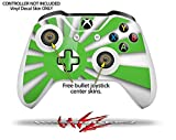 Rising Sun Japanese Flag Green - Decal Style Skin Set fits XBOX One S Console and 2 Controllers (XBOX SYSTEM SOLD SEPARATELY)
