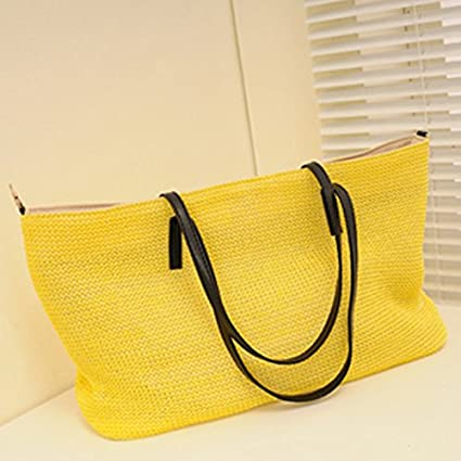 Amazon.com: Mink Monk Summer bolsas for Beach Big Straw Bags ...
