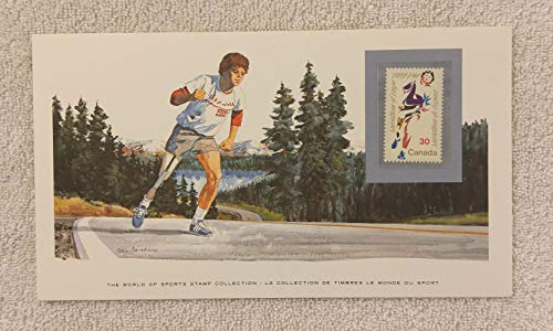 Marathon of Hope - The World of Sports - Postage Stamp & Commemorative Art Panel - Franklin Mint (1982) - Canada from World of Sports
