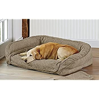 Amazon.com : Orvis Memory Foam Bolster Dog Bed with Snap