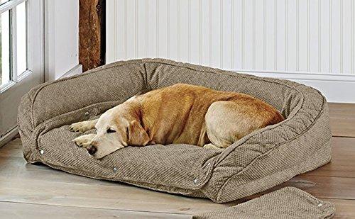 Orvis Memory Foam Bolster Dog Bed with Snap-Off Pads Medium Dogs 40-60 Lbs.