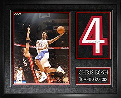 820bef2f7 Image Unavailable. Image not available for. Color  Frameworth Chris Bosh  Signed Jersey Number Toronto Raptors ...