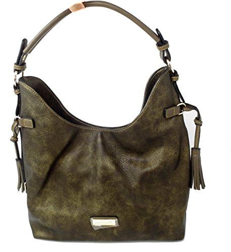 Metallic Suede Handbag - 9