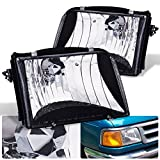 94 ford ranger headlight assembly - For Ford Ranger Black Housing Clear Lens Headlight Head Light Lamp Upgrade Replacement Pair LH RH Assembly