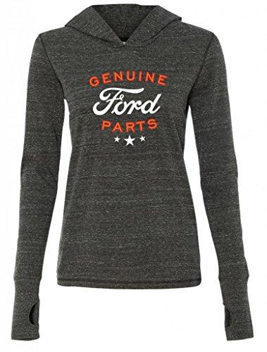 Ladies Genuine Ford Parts Charcoal Tri Blend Hoodie Large