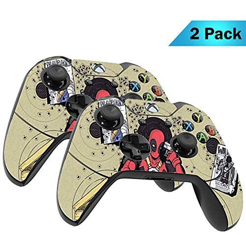 Xbox One Wireless Controller Pro Console - Newest Xbox Controller Blue-Tooth with Soft Grip & Exclusive Customized Version Skin (Xbox-Deadpool Headshot) (2 - Pack)