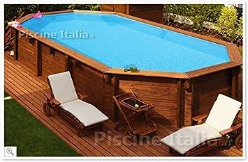 Oberirdisches Schwimmbecken Aus Holz JARDIN 607