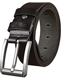 Belts For Men - Mens Genuine Leather Belt for Dress & Jeans - Big & Tall Size - Great Gift Idea