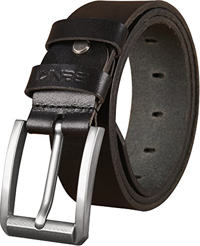 Belts for Men - Full Grain Men's Genuine Leather Belt -Trimmed to Fit (44-46, BLACK) (Mens Genuine Leather)