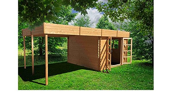 & Chalet jardin-Invernadero de jardín bois-pérgola 18m2-28 mm ...