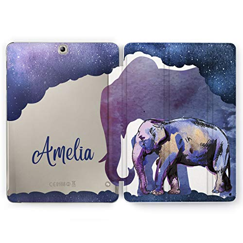 Wonder Wild Night Elephants Samsung Galaxy Tab S4 S2 S3 Smart Stand Case 2015 2016 2017 2018 Tablet Cover 8 9.6 9.7 10 10.1 10.5 Design Cover Animals Space Stars Personalized Universe Deep Cosmos