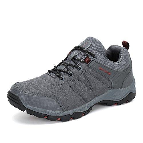 FLARUT Hiking Shoes Men Outdoor Sports Backpacking Boots Trekking Climbing Running Sneakers(Grey,EU40)