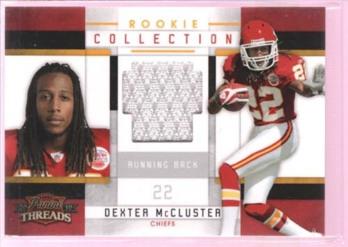 DEXTER MCCLUSTER 2010 THREADS ROOKIE JERSEY PATCH RC CHIEFS TITANS /299 $12 - Dexter Patches