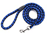 i bite dog harness - Dog Leash Rope.Dog Nylon Traction Rope 5 Feet Long.the Most Comfortable for Small Medium Large Dogs(Blue)