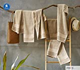 FBTS Basic Hand Towels 6 Packs Brown 16x31 Inches Luxury Towels Highly Absorbent Extra Soft Professional Grade Five-Star Hotel Quality