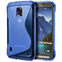 Samsung Galaxy S5 Active Case, Cimo [Wave] Premium Slim TPU Flexible Soft Case For Samsung Galaxy S 5 V Active (2014) - Blue