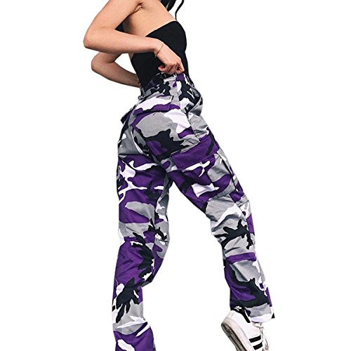 Purple Camouflage Pants - 4