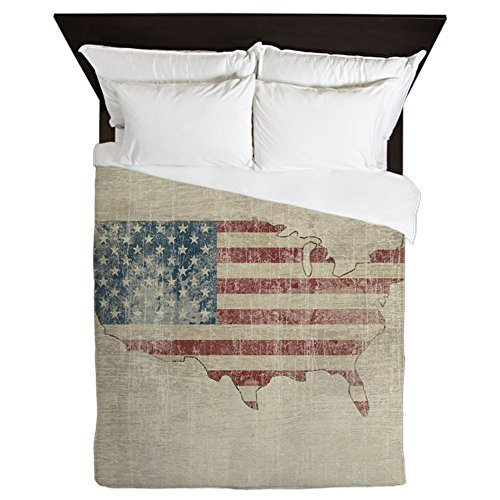 CafePress - Vintage USA Flag / Map