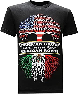 American Grown Mexican Roots Funny Humor T-Shirt