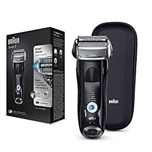 Braun Electric Shaver Rechargeable and Cordless Razor for Men with Travel Case, Black