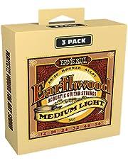 Ernie Ball Earthwood Medium Light 80/20 brons akustisk gitarr strängar 3-pack – 12–54 mätare