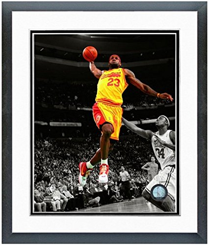 LeBron James Cleveland Cavaliers NBA Spotlight Action Photo (Size: 12.5'' x 15.5'') Framed by NBA