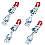 ZXHAO GH-4001 Quick-release Toggle Clamps 150Kg 330Lbs Holding Capacity Anti-slip Horizontal Clamps 4pcs