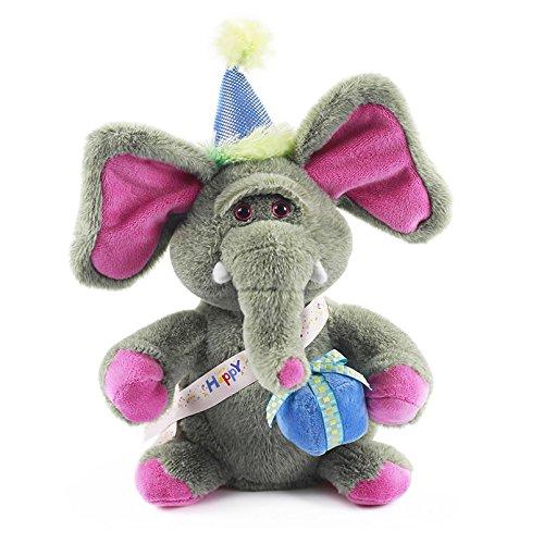 Fiesta Toys I Dance & Sing Animated Plush - 11'' Birthday Elephant, Happy Birthday Song Plush Animals by Fiesta Toys