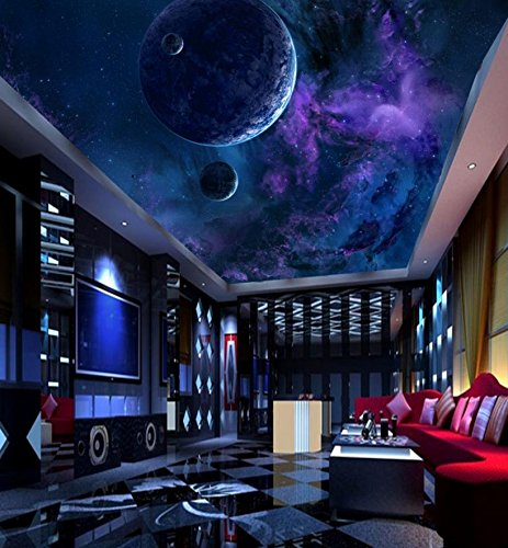 Malilove 3d Wall Murals Planet Ceiling Wallpaper Planet Wallpapers