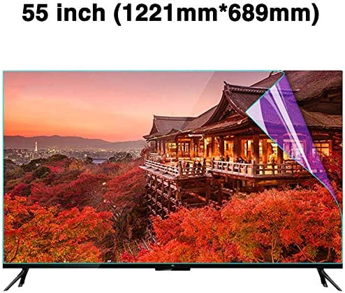 BYCDD 55 Inches Anti-Blue Light TV Screen Protector LED OLED /& QLED 4K HDTV,A Non-Glare Anti-Scratch Ultra-Clear Eye Protection Screen Filter for LCD