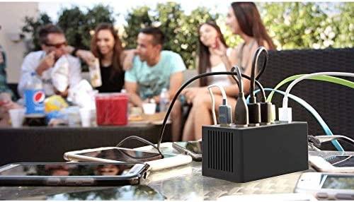 XLHJFDI Cargador USB de 10 Puertos, Cargador rápido USB de ...