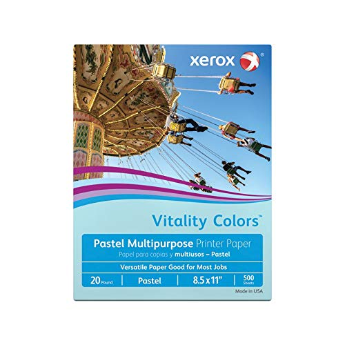Multipurpose Colored Copy Paper, 20 Lb., 8 1/2in. x 11in., Blue, Ream Of 500 Sheets