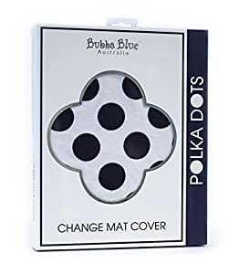 Bubba Blue Polka Dots Change Mat Cover - Navy Baby Diaper Fits Supersoft Absorbent