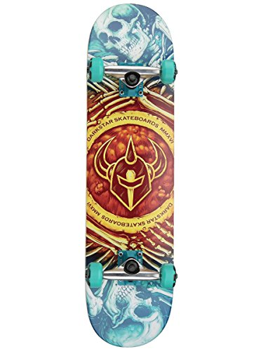 Darkstar Remains FP Skateboard Complete,7.75FU,Gold Fade