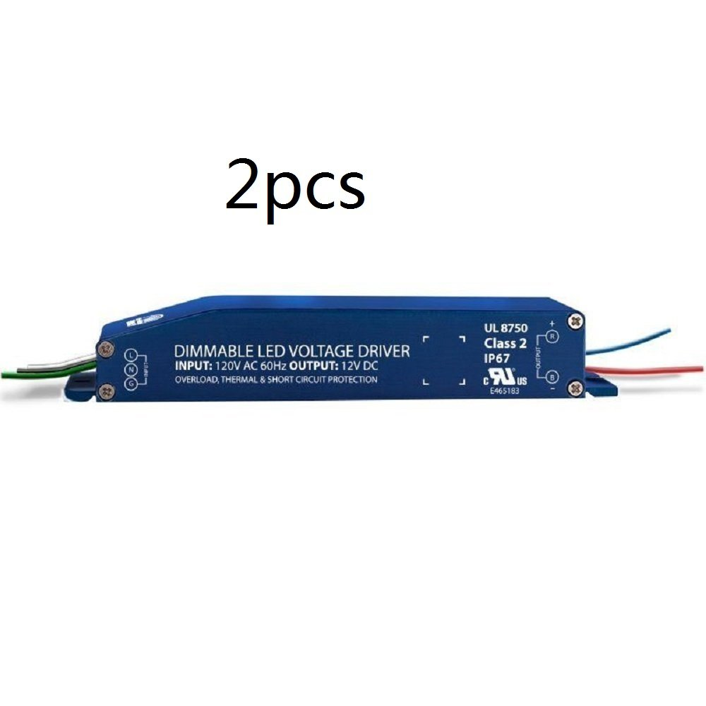 2pcs Magnitude E96R24DC 96W 24V DC Voltage AC Side Dimmable Class 2 LED Driver UL