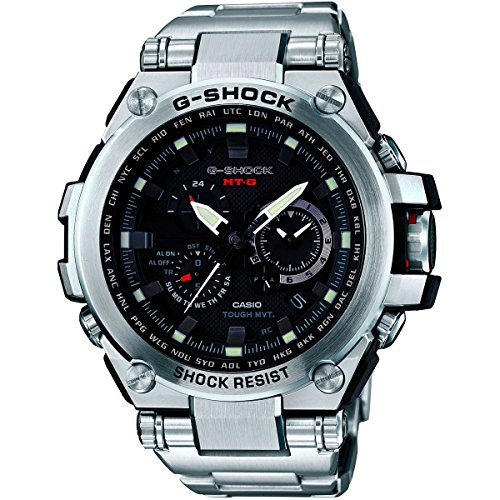 Casio G-Shock Black Dial Stainless Steel Quartz Men's Watch MTGS1000D-1A by Casio