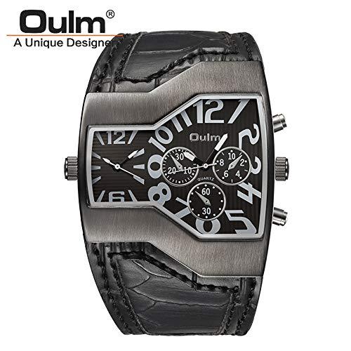 HWCOO Hermoso Relojes de Pulsera 2017OulmOULM Reloj de Moda Doble Movimiento Reloj Deportivo Reloj de Aventura