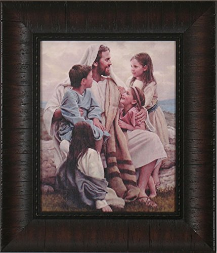 Framed Picture of Jesus Perfect Love By Del Parson Picture of Jesus with Children