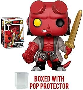 Funko Pop! Comics: Hellboy - Hellboy with Excalibur Sword Vinyl Figure (Bundled with Pop Box Protector Case)