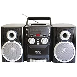 Naxa Electronics Npb-426 Portable Cd Player With Amfm Stereo Radio, Cassette Playerrecorder & Twin Detachable Speakers