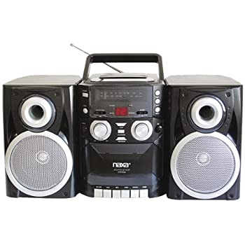 Naxa Electronics Npb-426 Portable Cd Player With Amfm Stereo Radio, Cassette Playerrecorder & Twin Detachable Speakers 0