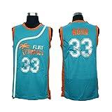 Kooy Jackie Moon #33 Will Ferrell Flint Tropics Semi Pro Movie Basketball Jersey