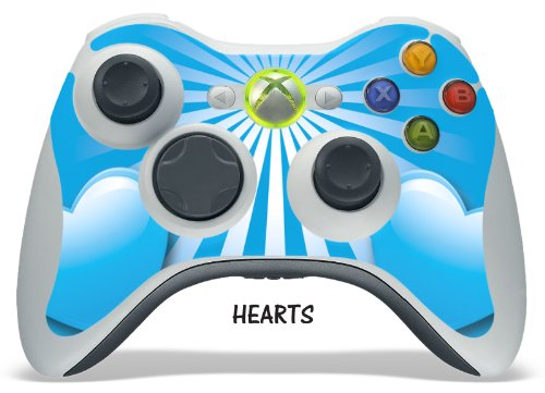 Designer decal for XBOX 360 Remote Controller – Hearts Blue, Best Gadgets