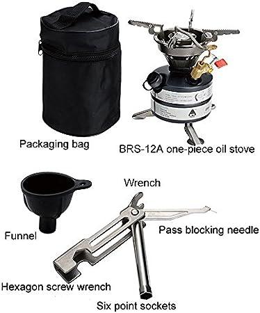 SUNRIS BRS pda-12 a de una Pieza de Combustible Multi lageröfen para Cookout BBQ Camping Pesca Picnic 2 – 3 Quemador Operaciones