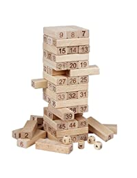 Lewo Wooden Building Blocks Set Children Educational Math Toys Board Games-54 Pieces BOBEBE Online Baby Store From New York to Miami and Los Angeles
